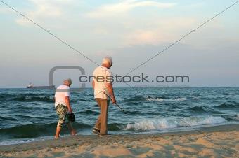 mature couple stroll