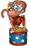 Monkey circus performer