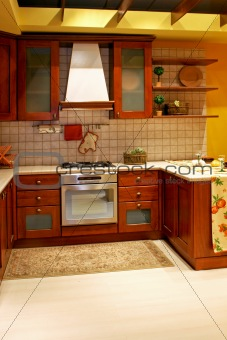 Country wooden kitchen