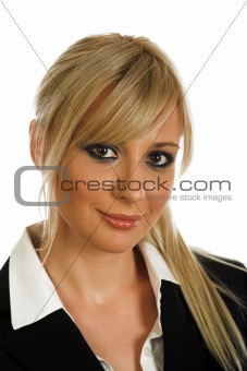 Portrait of blonde young businesswoman