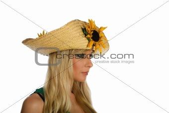 Beautiful blonde girl with sun heat