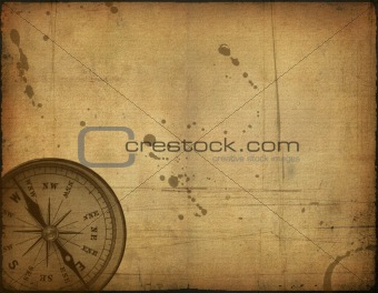 old paper texture and compass