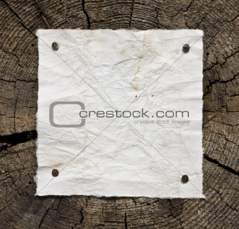 Old Paper On Wooden Background