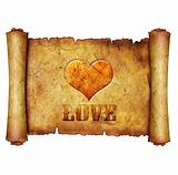 love heart scroll