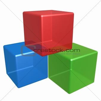 cubes pile
