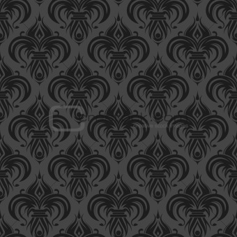 Gray black antique seamless wallpaper
