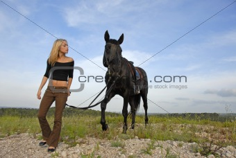 teenager and black stallion 
