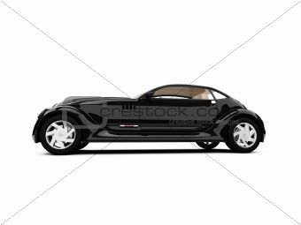 concept of retro car on white background