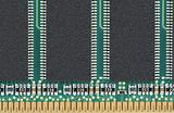Random access memory chip on white