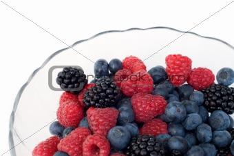 fresh berries in glass plate
