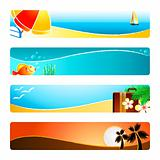 Beach time banner backgrounds