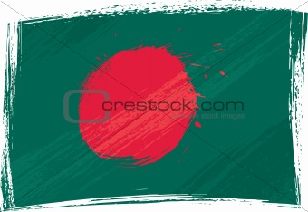 Grunge Bangladesh flag