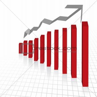 Business profit growth graph chart