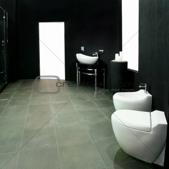 Black lavatory