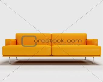 3d orange sofa
