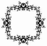 Decorative Abstract Digital Design - Circular Frame Background