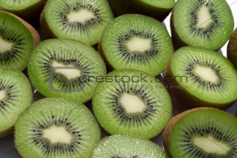 slice kiwi on white background