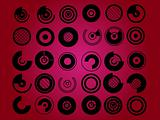 Circles abstract symbol set vector