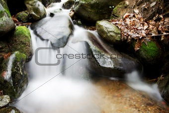 Small waterfall in the woods