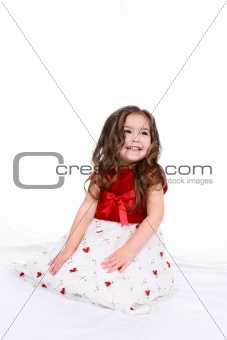 beautiful toddler in holiday dress