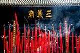 Burning Incense Three Kingdoms Temple Chengdu Sichuan