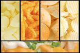 Assorted Junk Food Collage Background