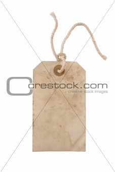 Blank paper tag