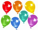Rainbow colour balloons