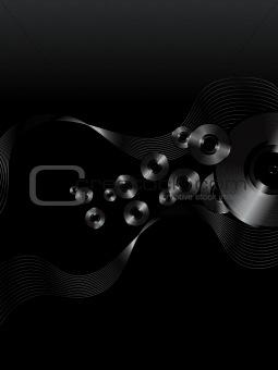 Abstract vinyl disc vector background