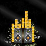 Abstract speaker and equalizer background vector
