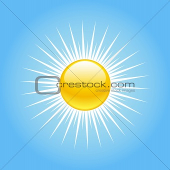 Blue summer sky vector illustration