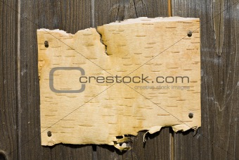 Bark On Wooden Background