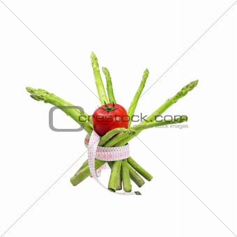 asparagus and tomato