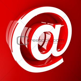 3d image of orange email symbol