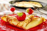 pancake with strawberries