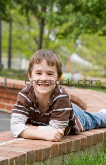 Little Boy Laying Down