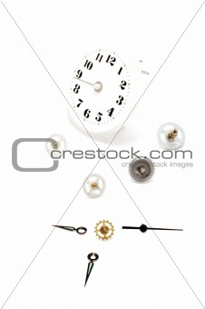 clock-face on white