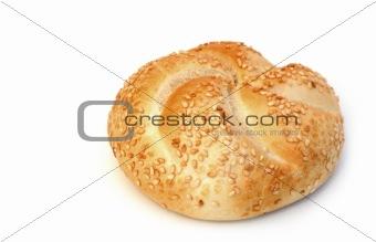 one fresh loaf on white background