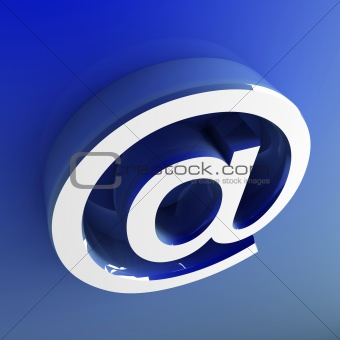 3d image of email symbol