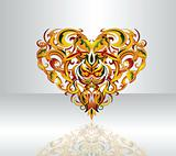 Decorative heart-shape