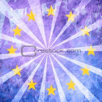 Grunge backgroundwith european flag