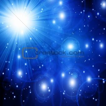 Bright sparkling star