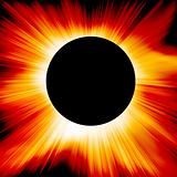 Red solar eclipse