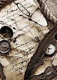 Paper &amp; Old watch