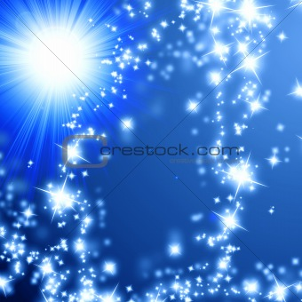 Bright sparkling star