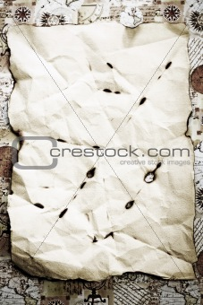 Old paper background with space for text