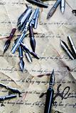 Old sheet of paper &amp; Nibs