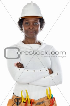 African american woman worker