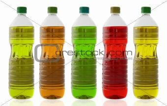 Five oil bottles