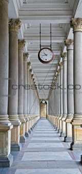 Classical columns and clock